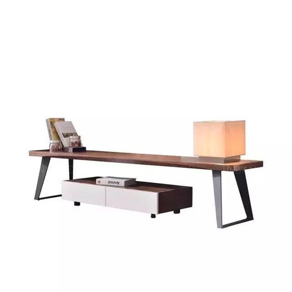 NARUKI Modern Industrial Wooden Bench TV Cabinet
