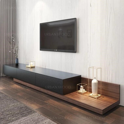 NOEL Modern Japanese Style Wooden TV Console