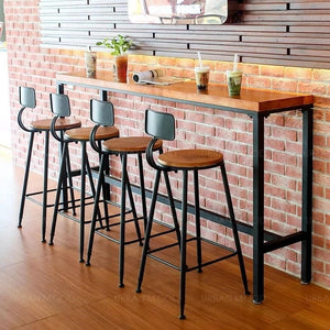 OSMOND Rustic Wood Bar Table & Stool