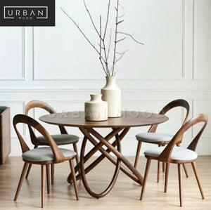 OBLIQUE Postmodern Solid Wood Round Dining Table