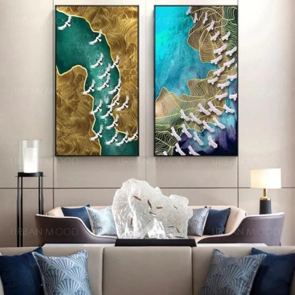 PARADISE Migrating Birds Large Wall Art Deco