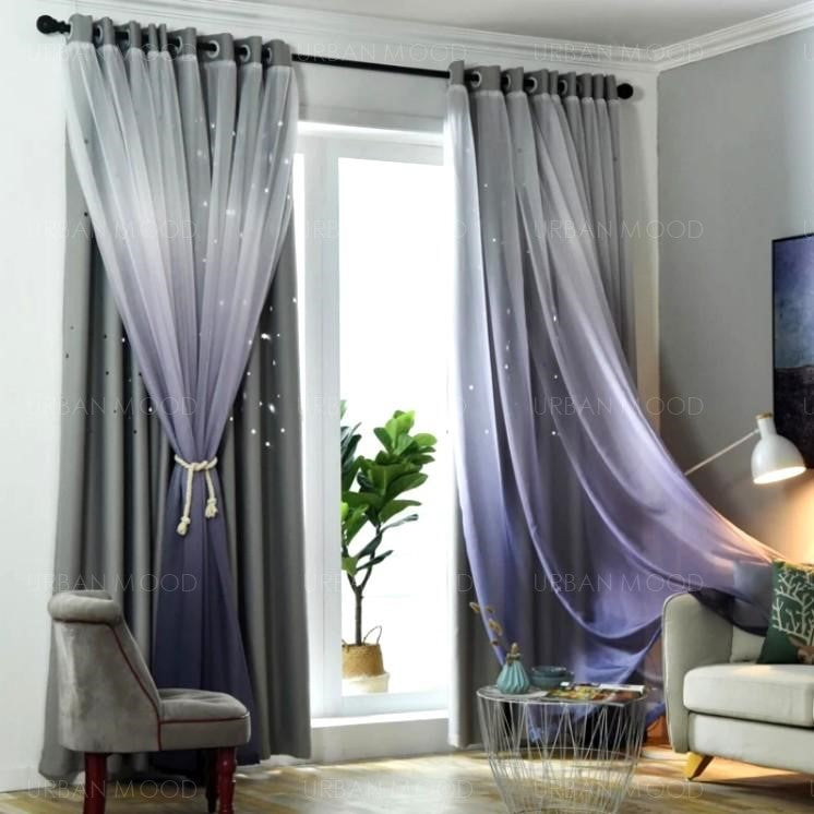 PEEKABOO Ombre Starburst Curtains