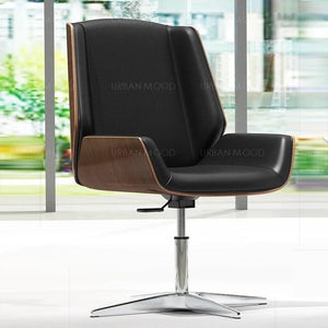 POLITAN Modern Designer Wood Clad Office Chair