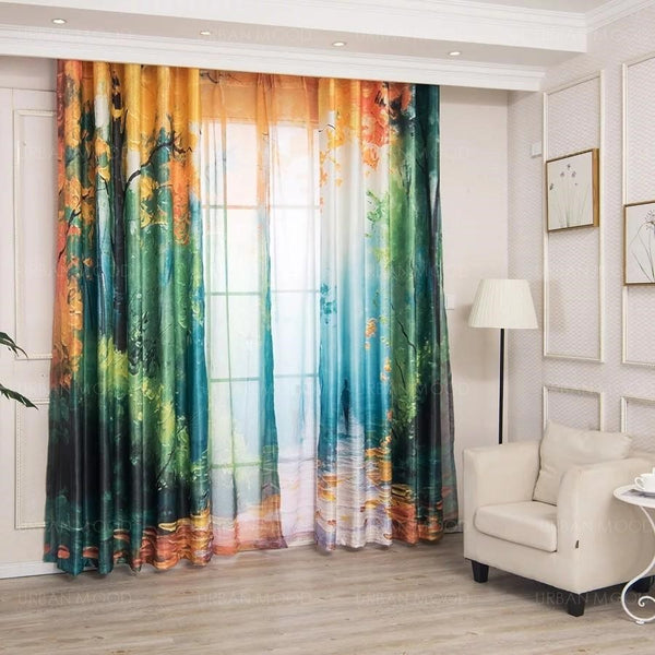 RAIZO Autumn Foliage Curtains