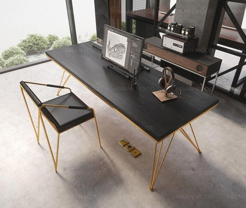 REGAL Modern Industrial X Frame Dining Table