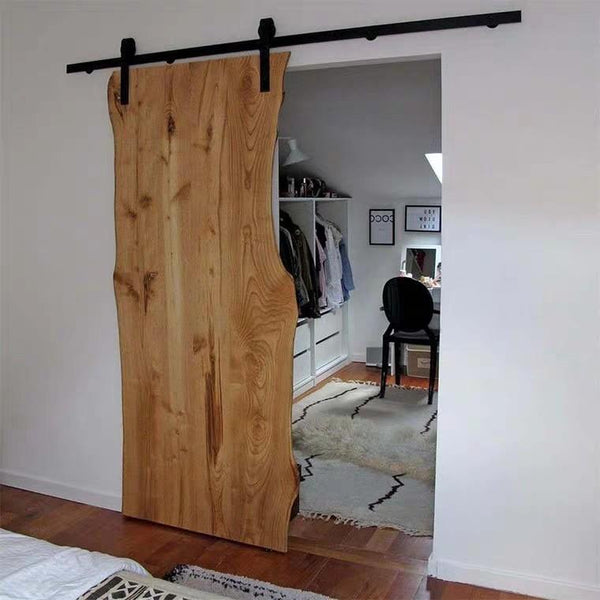 REID Modern Wood Slab Barn Door