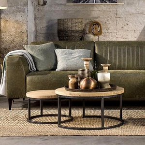 ROMER Modern Industrial Rustic Wood Coffee Table