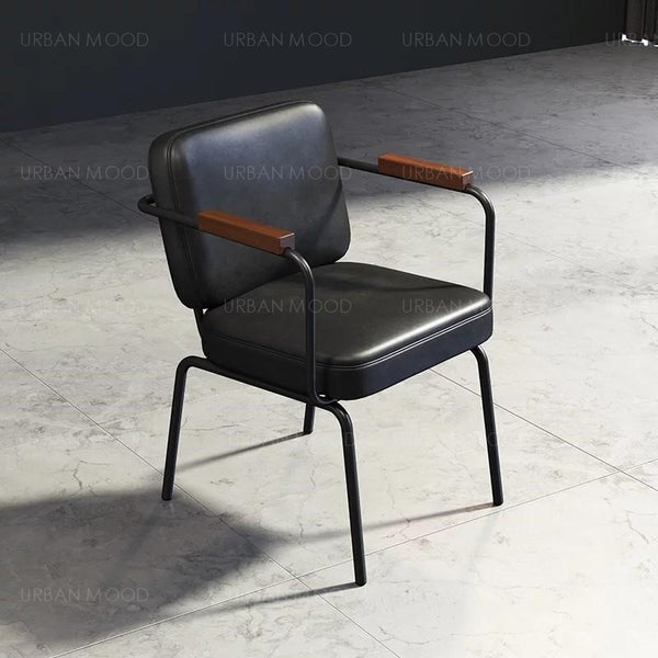 RONNIE Vintage Faux Leather Office Dining Chair