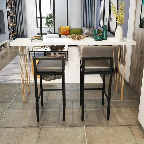 RUBRIK Gold High Bar Table / Stool