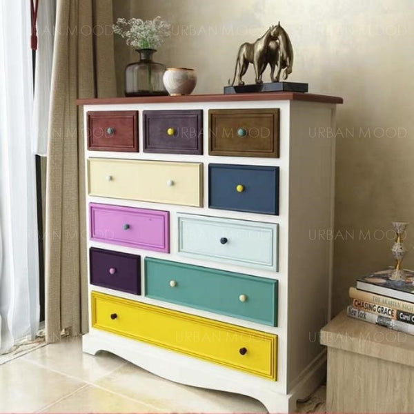 RUSSELL Rustic Tall Chest of Drawers