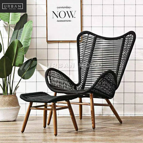 ROMA Rustic Outdoor Rattan Armchair