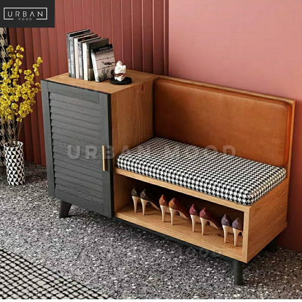 SAFFRON Contemporary Shoe Cabinet Bench