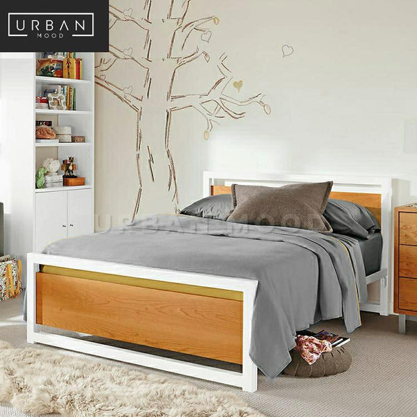 SEAN Industrial Solid Wood Bedframe