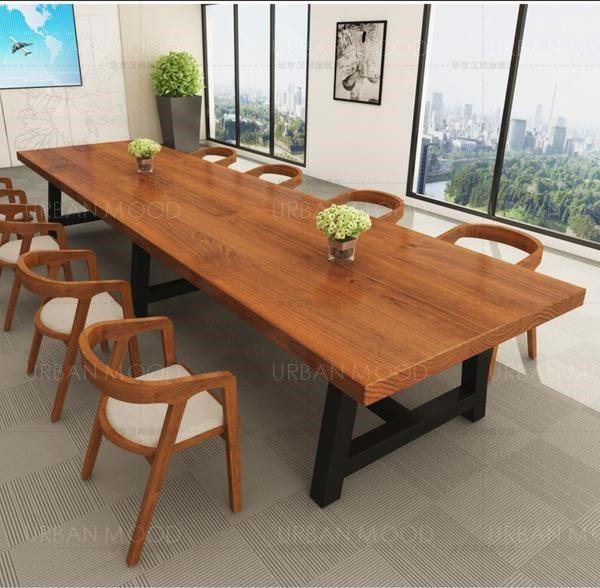 SHUBEL Modern Contemporary Wooden Conference / Dining Table