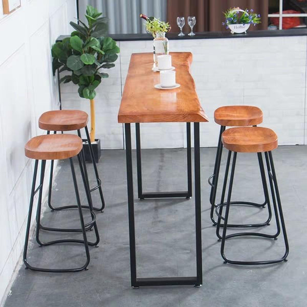 STARBUCKS Rustic Wooden Bar Table & Stool