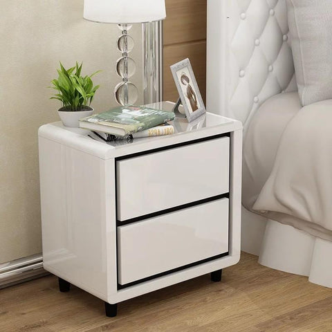 SVEN Modern Glossy Piano Bedside Table