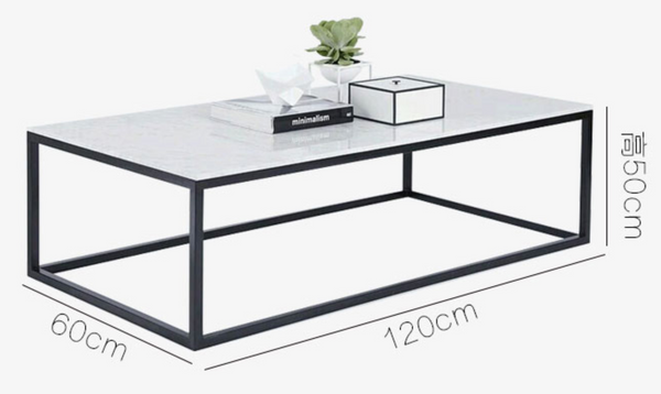 PANDORA Minimalist Wire Frame Marble Coffee Table