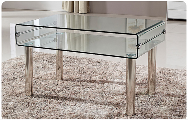 JORI Minimalist Designer Glass Coffee Table