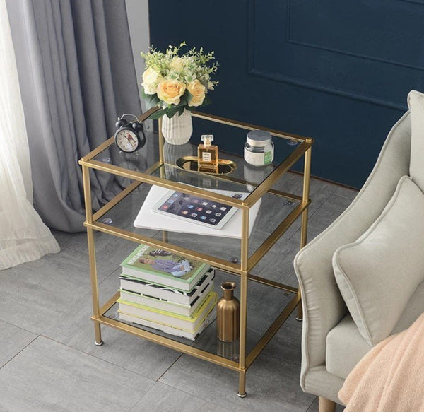 AVIANA Classic Tempered Glass Side Table