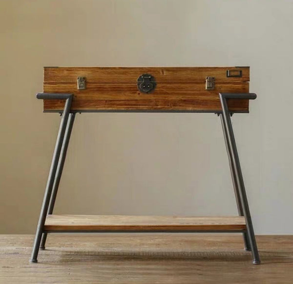 JACQUES Rustic Reclaimed Wood Hallway Console