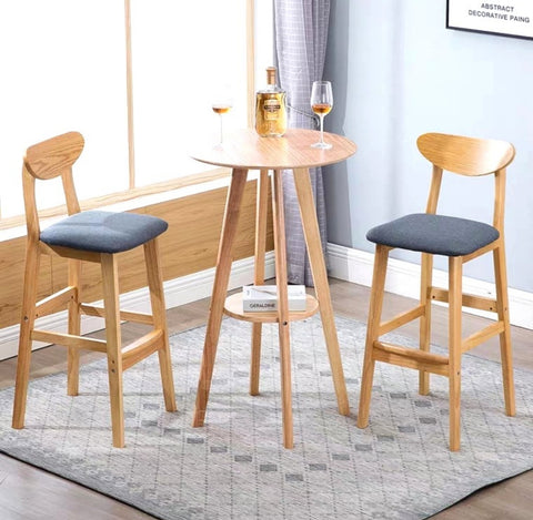 BEVY Vintage Solid Wood Bar Table & Stools