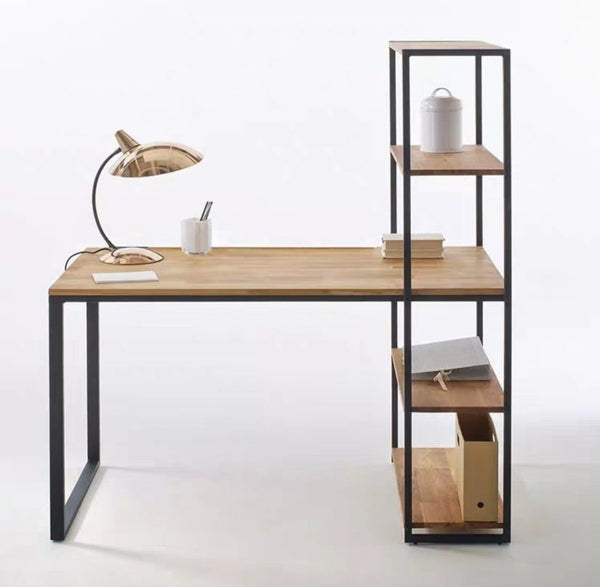 DUSK Industrial Solid Wood Study Table