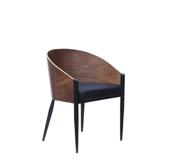 COLBY Postmodern Walnut Dining Chair