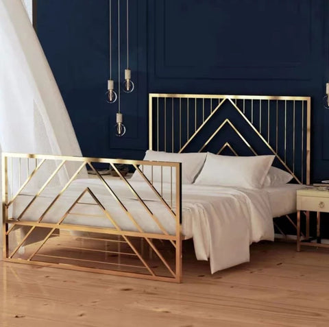 SILVIA Luxury Gold Bedframe