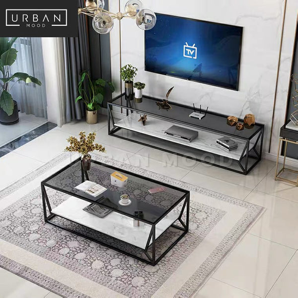 SPIRIT Modern LED Glass Coffee Table