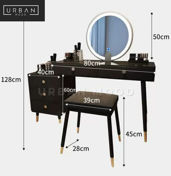 TATLER Modern LED Vanity Table Set