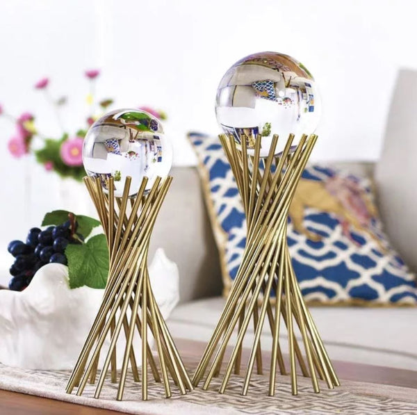 THEMIS Crystal Ball Gold Ornament