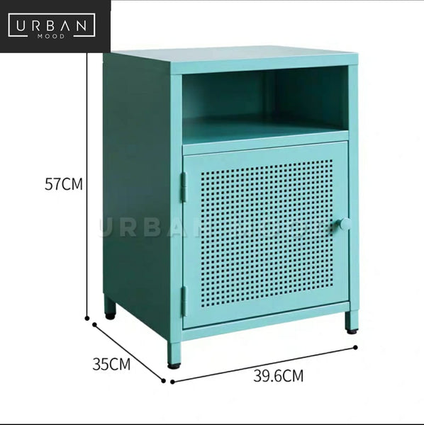 THYME Modern Metal Bedside Table