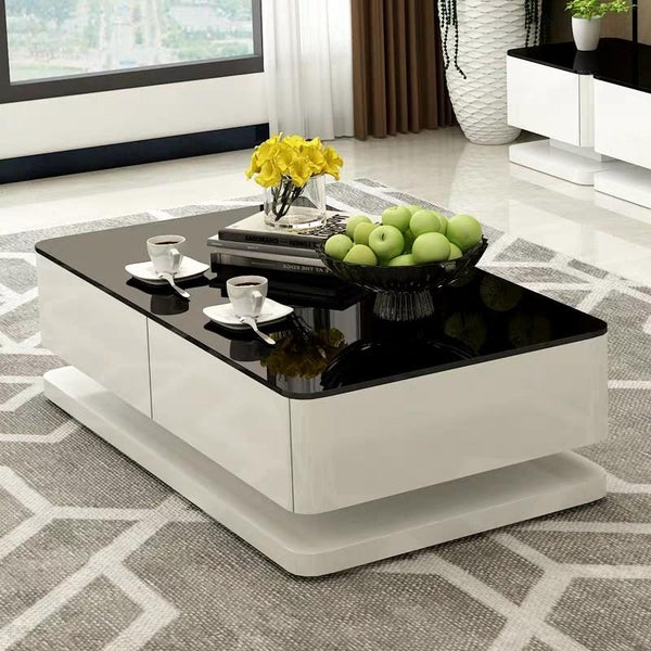 UXORIOUS Modern Tempered Glass TV Console