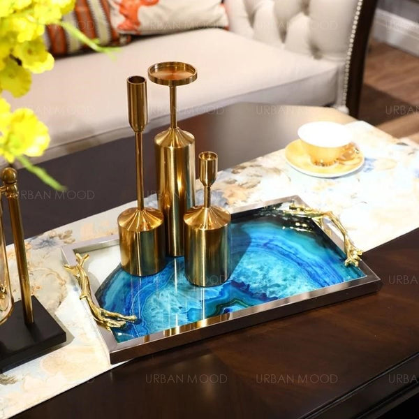 VALENCIA  Contemporary Epoxy River Tray