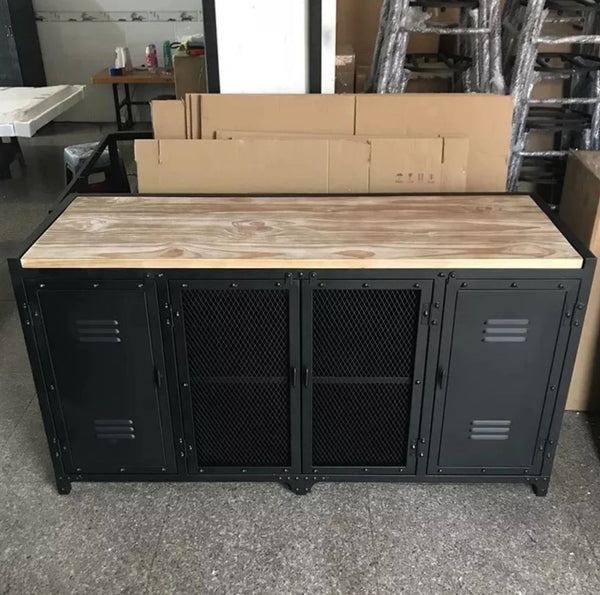 WARNER Modern Industrial Metal TV Cabinet