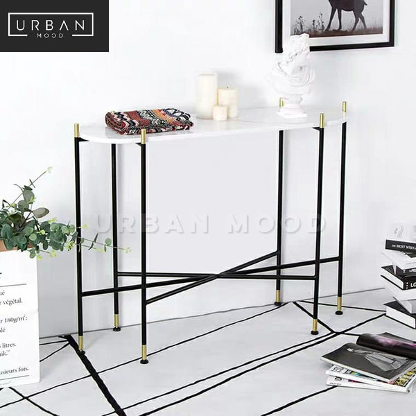 CIRRUS Modern Marble Entryway Table