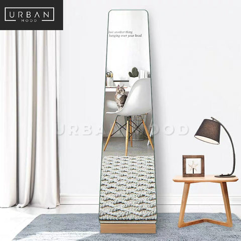 ASHEN Scandinavian Solid Wood Standing Mirror