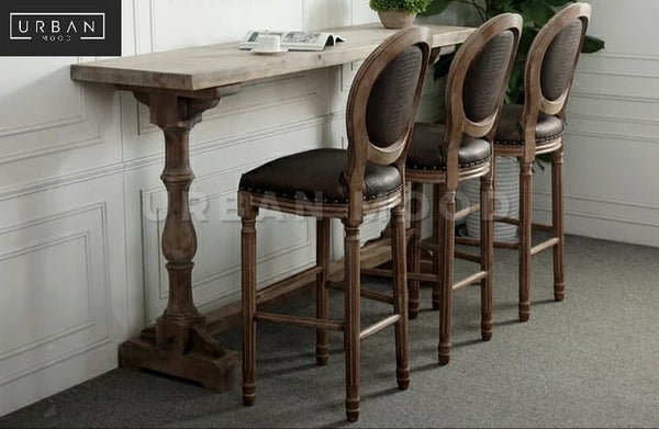 PEDRO Vintage Distressed Bar Table & Chairs