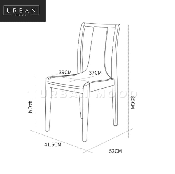 TIRADE Rustic Solid Wood Dining Chair