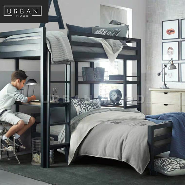 MANOR Industrial Bunk Bed with Study
