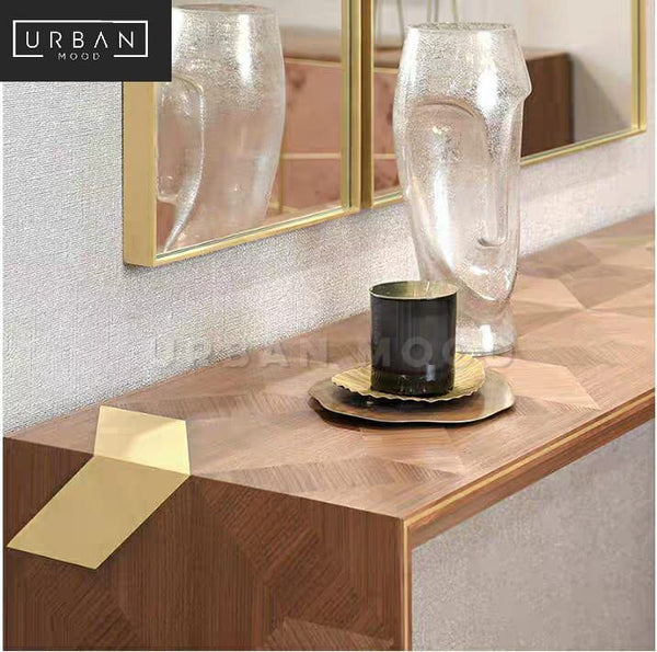 ARGENT Modern Solid Wood Hallway Console