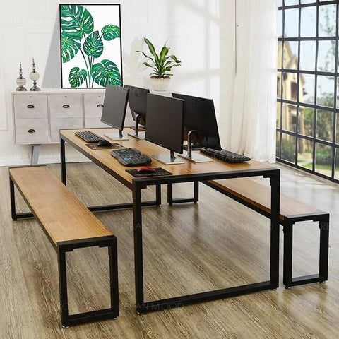 XANDER Modern Industrial Ultra Thin Office Study Table