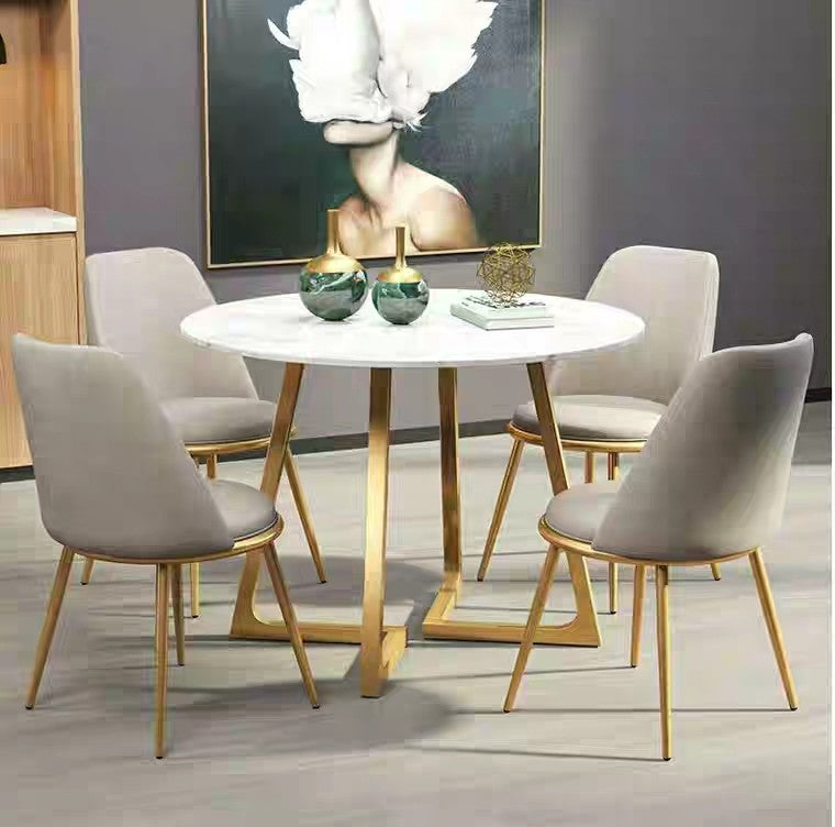 ASHLEY Modern Round Marble Dining Table – Urban Mood