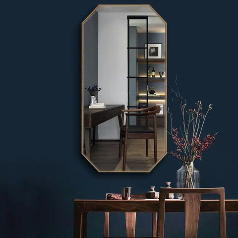 ALVEDA Gold Accent Wall Mirror