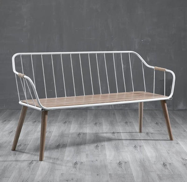 BERYL Rustic Solid Oak Wooden Bench