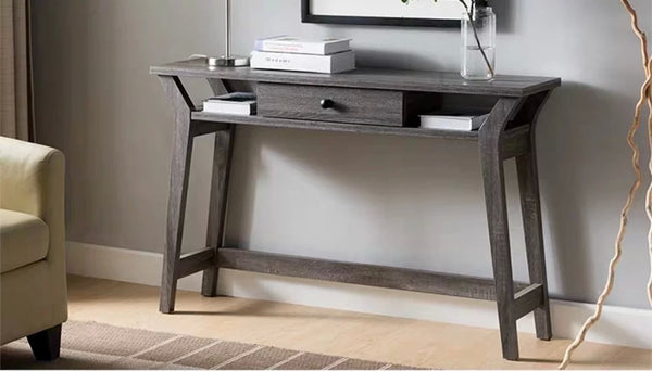 CHARON Ash Grey Wooden Hallway Console