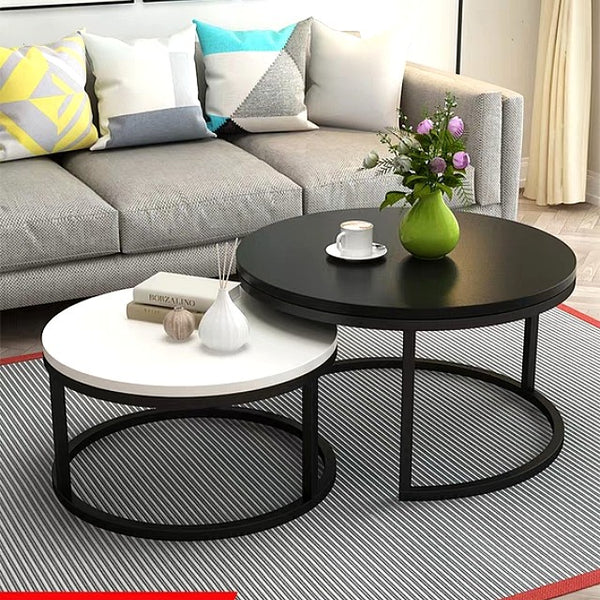 Mod Monochrome Round Coffee Table