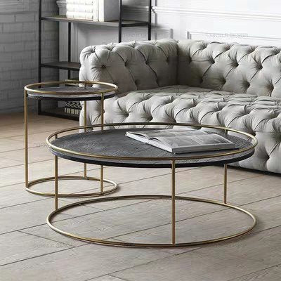 CORDELIA Modern Round Marble Coffee Table