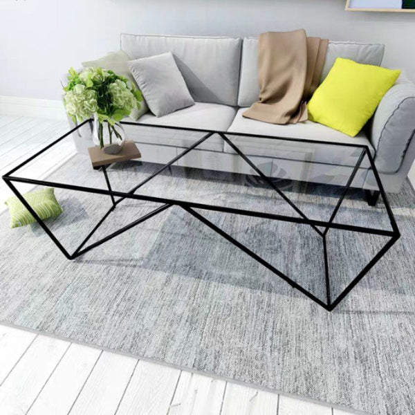 DELTA Minimalist Glass Coffee Table