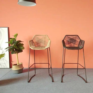 DIJON Designer Wicker Bar Stool